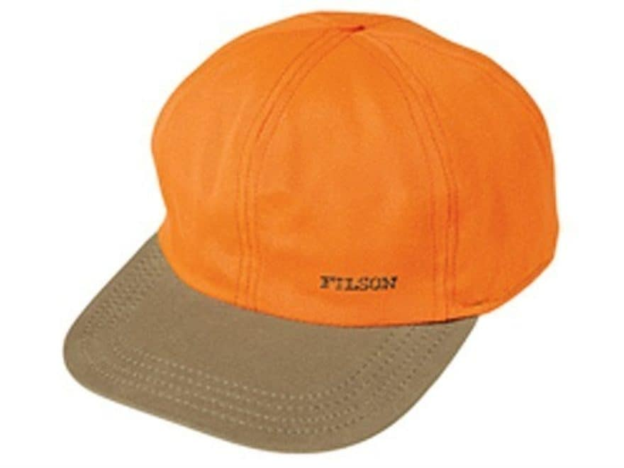 Filson Men s Insulated Tin Cloth Cap Cotton Blaze Orange and Dark Tan  Large. Alternate Image f1c27b98da4