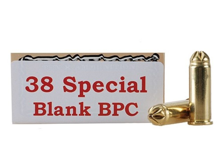 Ten-X Ammunition 38 Special Pistol Blank BPC Box of 50