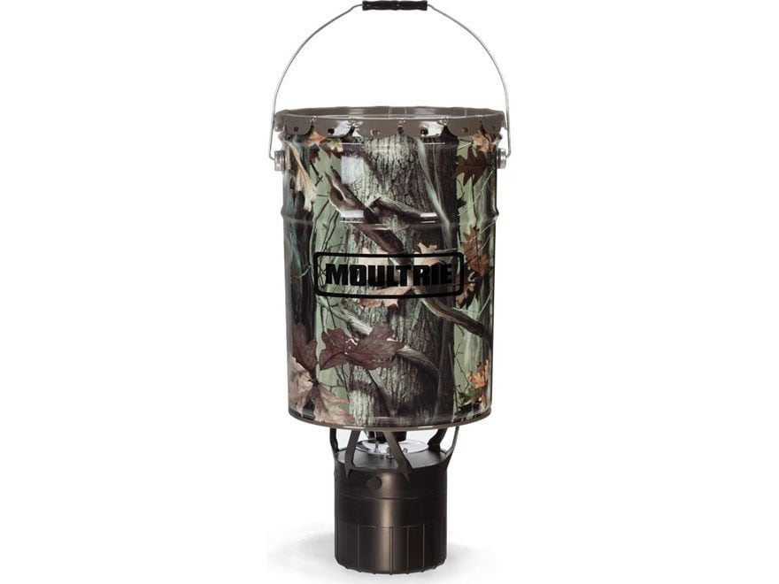 Moultrie Econo Plus Hanging Game Feeder 6.5 Gallon Mossy Oak Break Up Infinity Camo