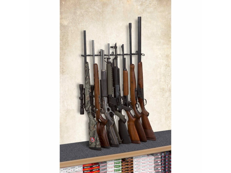 Rack'Em Racks 8 Rifle Shelf Display Rifle Barrel Rest
