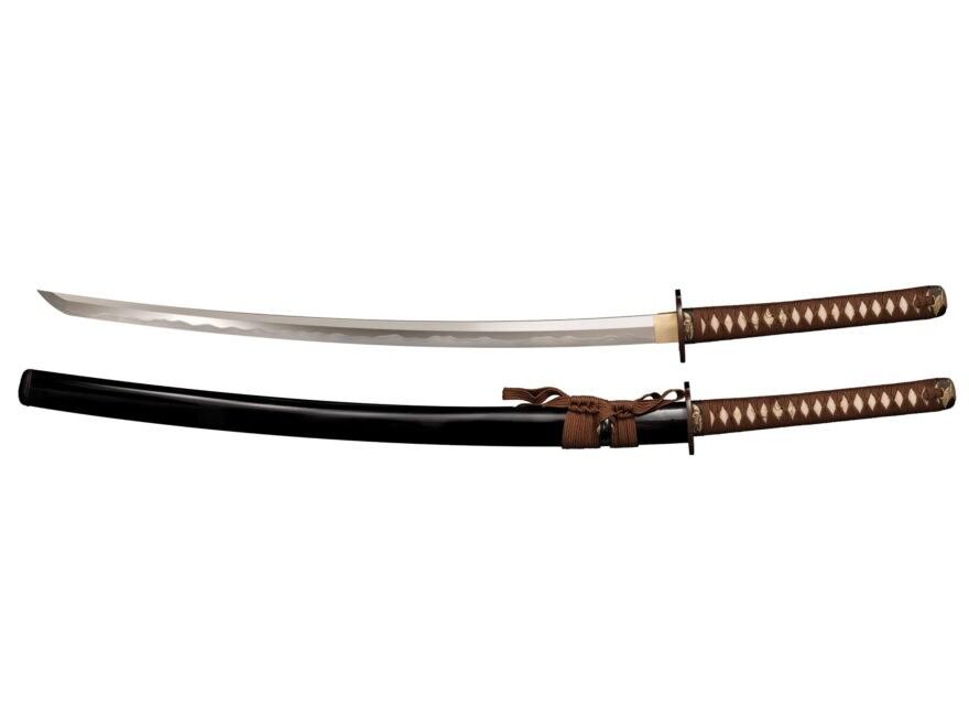 "Cold Steel Mizutori Katana 29.75"" 1095 Carbon Steel Blade Ray Skin Handle Brown"