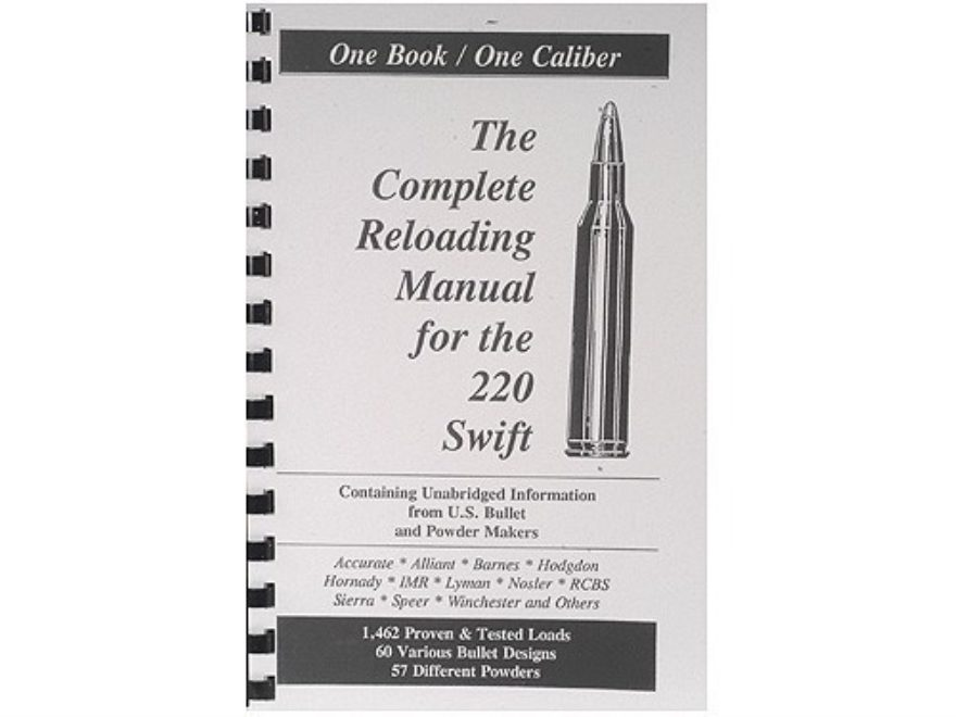 "Loadbooks USA ""220 Swift"" Reloading Manual"