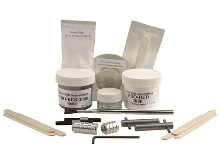 Score-High Deluxe Pillar Glass Bedding Kit Remington 700 Brown