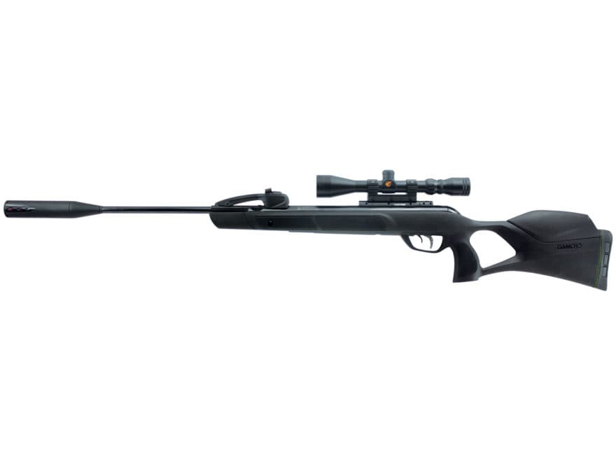 Gamo Swarm Magnum Break Barrel Air Rifle 22 Caliber Pellet Black Synthetic Stock with 3...
