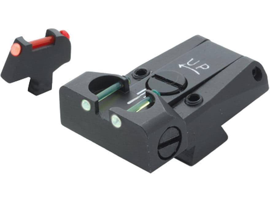 LPA TTF Adjustable Sight Set Colt A1 Series 70 Steel Fiber Optic