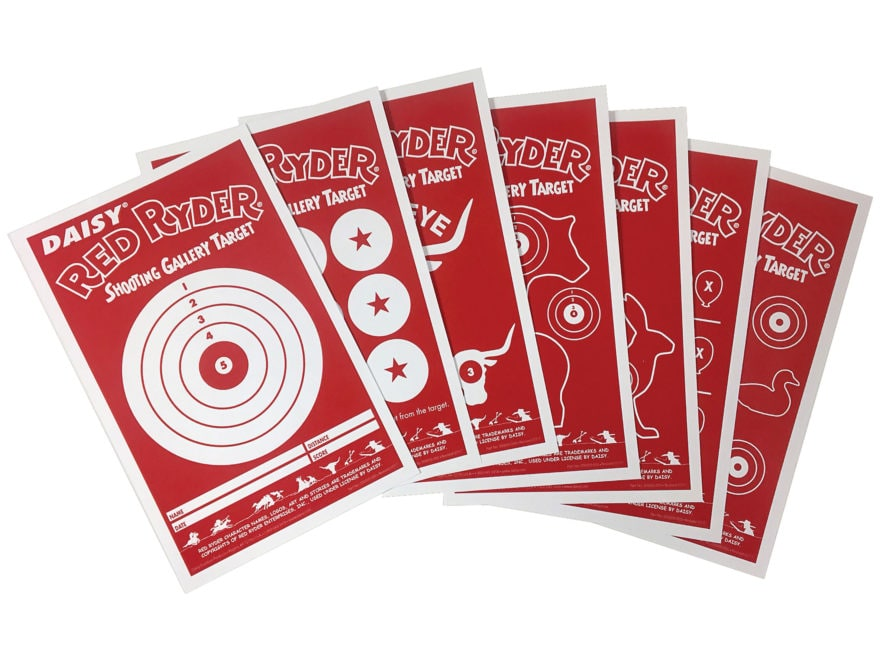 Daisy Red Rider Shooting Gallery Targets Pack of 25