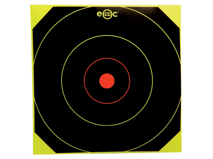 Birchwood Casey E-ZEE-C Self-Adhesive Black/Yellow Bullseye Target