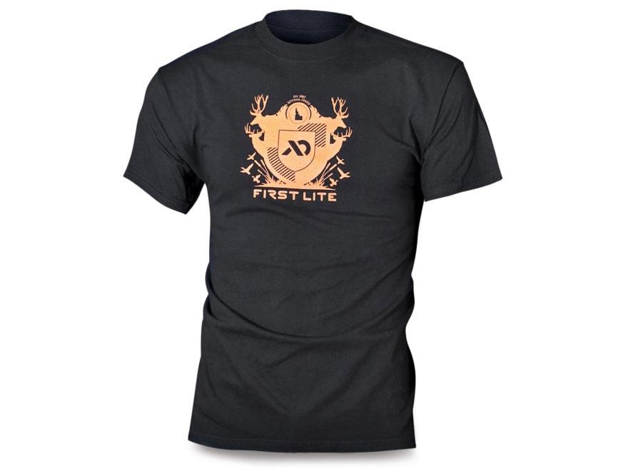 First Lite Men's Crest T-Shirt Short Sleeve Cotton Black XL