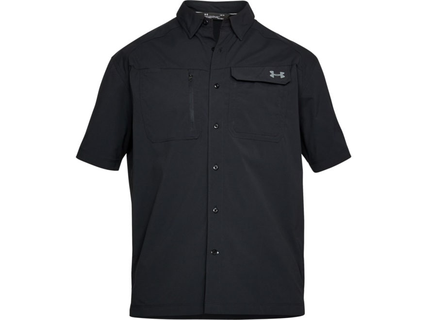 Under Armour Men's UA Fish Hunter Solid Button-Up Shirt Short Sleeve Nylon