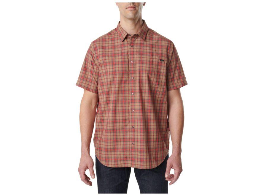 5.11 Men's Hunter Plaid Shirt Short Sleeve Cotton/Poly