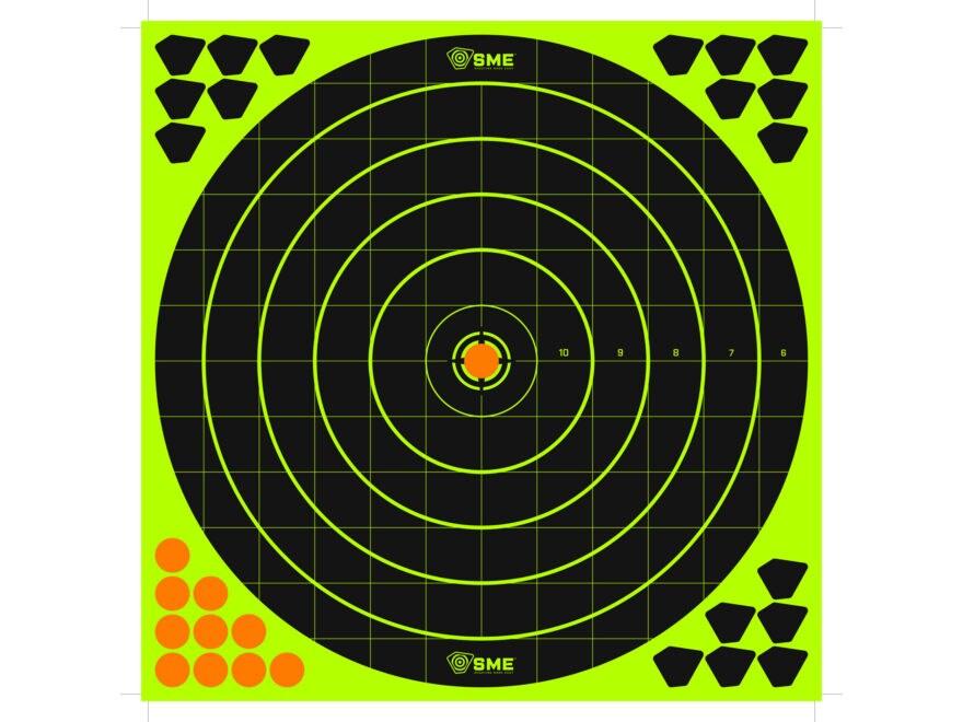 "SME Splatter Target 12"" Self-Adhesive Bullseye Package of 6 with 168 Pasters"