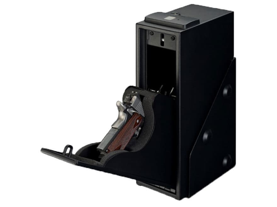 Stack-On Quick Access Safe Single Gun with Biometric Lock Black