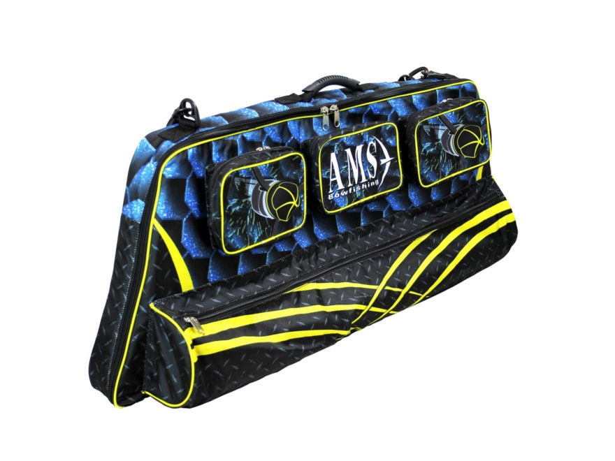 AMS Crazy Cool Compound Bowfishing Bow Case Polyester Black, Blue and Yellow