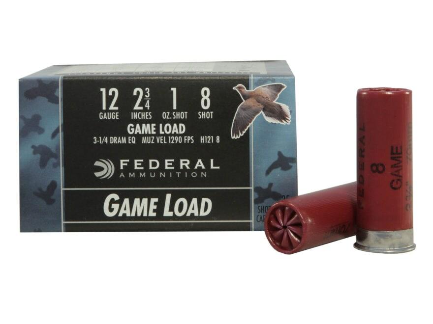 """Federal Game-Shok Game Load Ammunition 12 Gauge 2-3/4"""" 1 oz"""