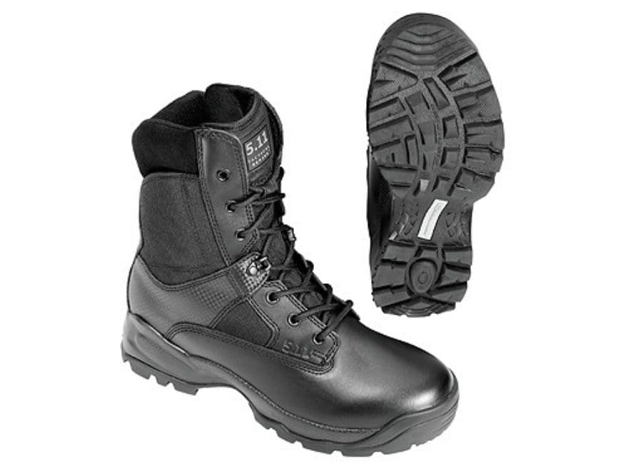 """5.11 ATAC 8"""" Tactical Boots Leather and Nylon Side Zip Men's"""
