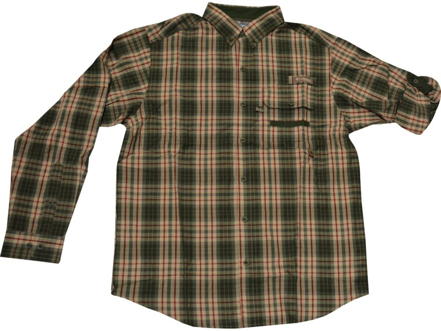 Columbia Men's PHG Super Sharptail Button-Up Shirt Long Sleeve Cotton