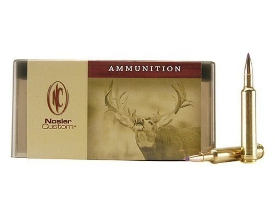 Nosler Custom Ammunition 222 Remington 50 Grain Ballistic Tip Varmint Box of 50