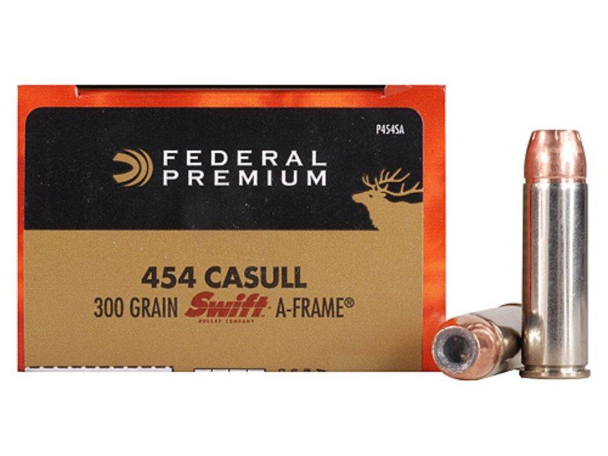 Federal Premium Vital-Shok Ammunition 454 Casull 300 Grain Swift A-Frame Jacketed Hollo...