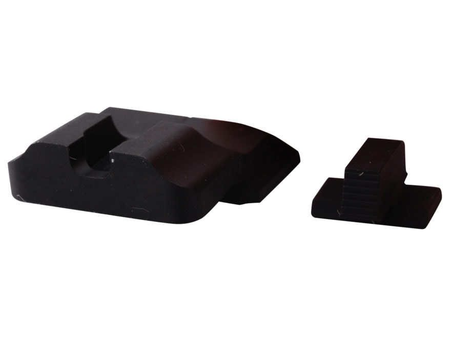 Warren Tactical Sight Set S&W M&P, M&P Compact Plain Tactical Rear, Serrated Front Stee...