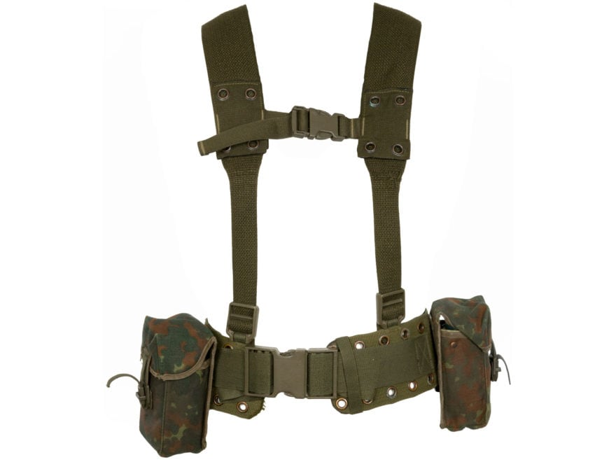 Military Surplus German G3 Harness Set Grade 2 Flecktarn Camo