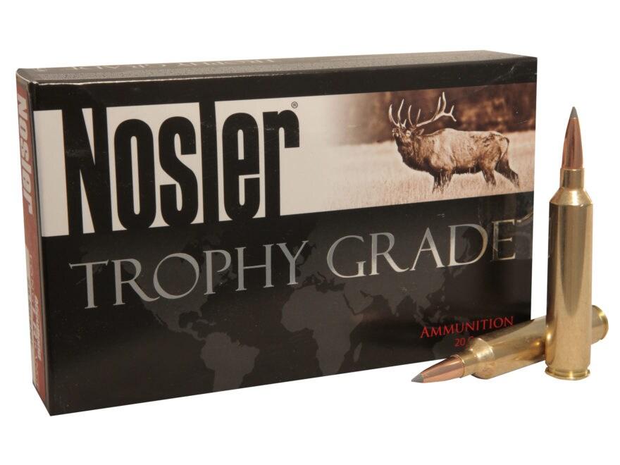 Nosler Trophy Grade Ammunition 26 Nosler 142 Grain AccuBond Long Range Box of 20