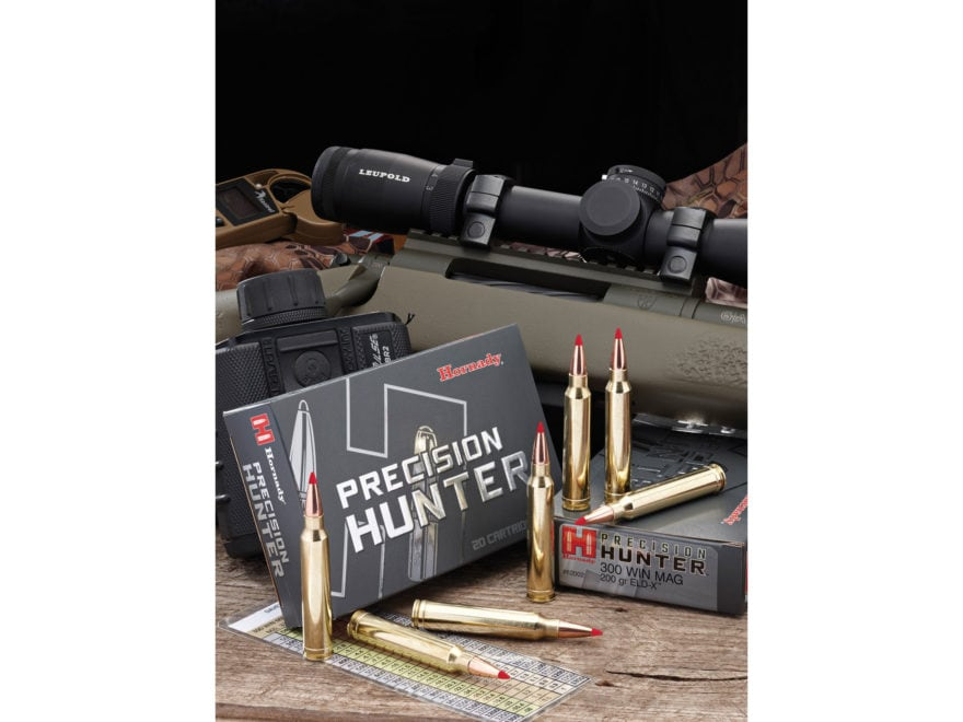 Hornady Precision Hunter Ammunition 300 Winchester Magnum 200 Grain ELD-X Box of 20