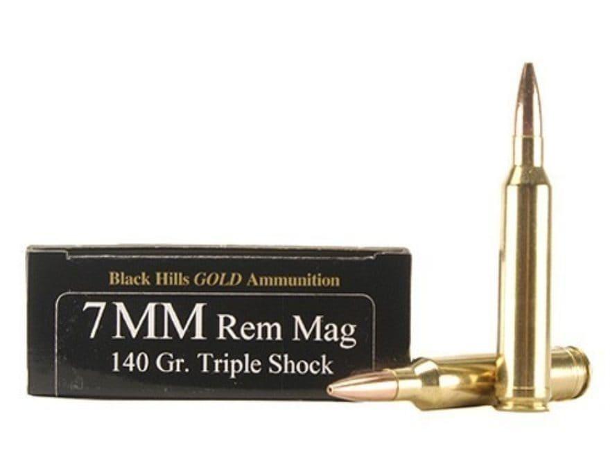 Black Hills Gold Ammunition 7mm Remington Magnum 140 Grain Barnes TSX Hollow Point Boat...