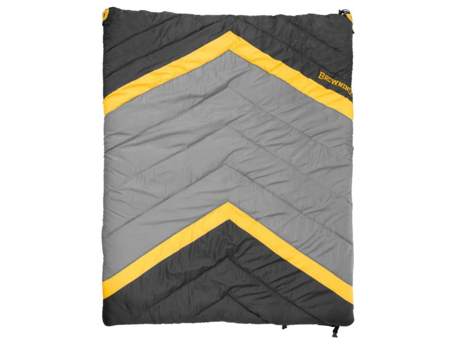 "Browning Side-By-Side 0 Degree Sleeping Bag 68"" x 80"" Nylon Clay and Black"