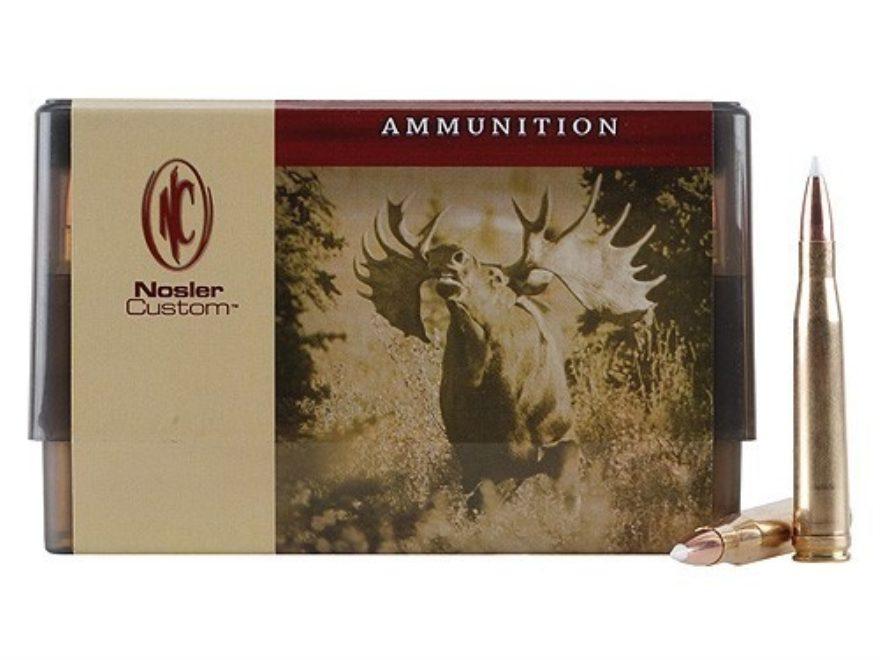 Nosler Custom Ammunition 300 H&H Magnum 200 Grain AccuBond Spitzer Box of 20