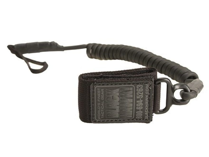 BLACKHAWK! Tactical Pistol Lanyard Coiled Black