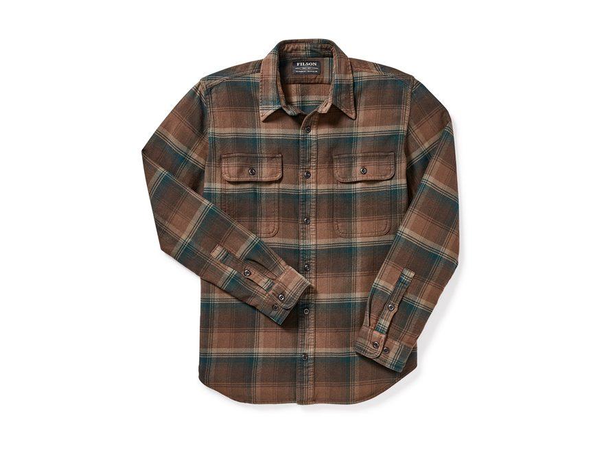 Filson Men's Vintage Flannel Work Shirt Long Sleeve Cotton