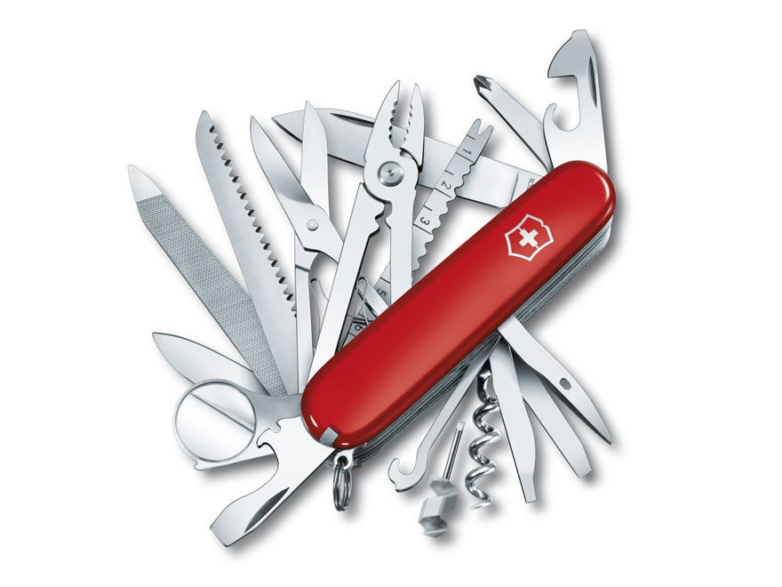 Victorinox Swiss Army SwissChamp Folding Pocket Knife 10 Function Stainless Steel Blade...