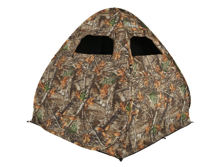 "Ameristep Gunner Ground Blind 58"" x 57"" x 56"" Polyester Realtree Edge Camo"