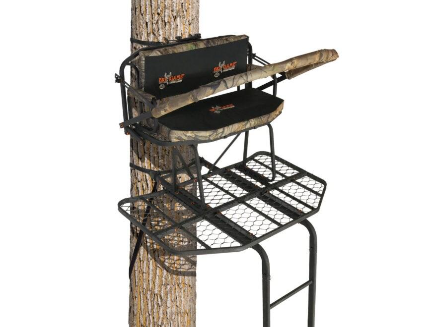 big game platinum prestige 16 39 double ladder treestand mpn ls3000 p. Black Bedroom Furniture Sets. Home Design Ideas