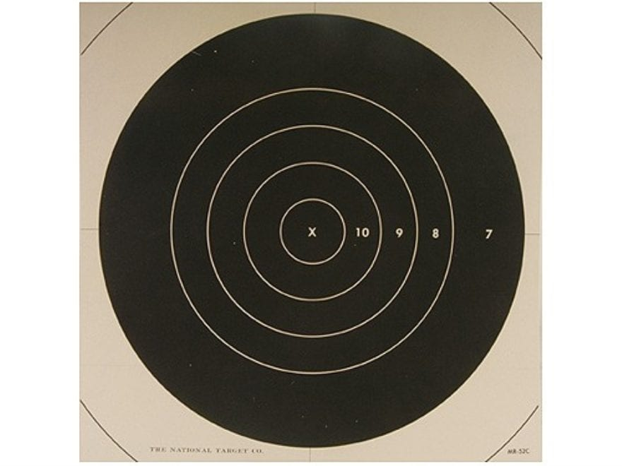 NRA Official High Power Rifle Targets Repair Center MR-52C 200 Yard Slow Fire Paper Pac...