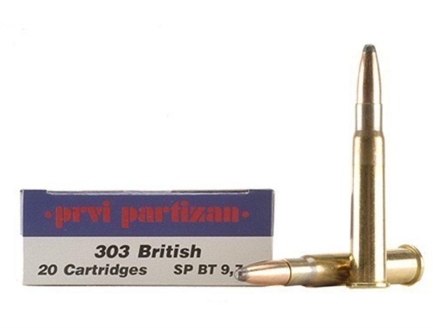 Prvi Partizan Ammunition 303 British 150 Grain Soft Point Box of 20