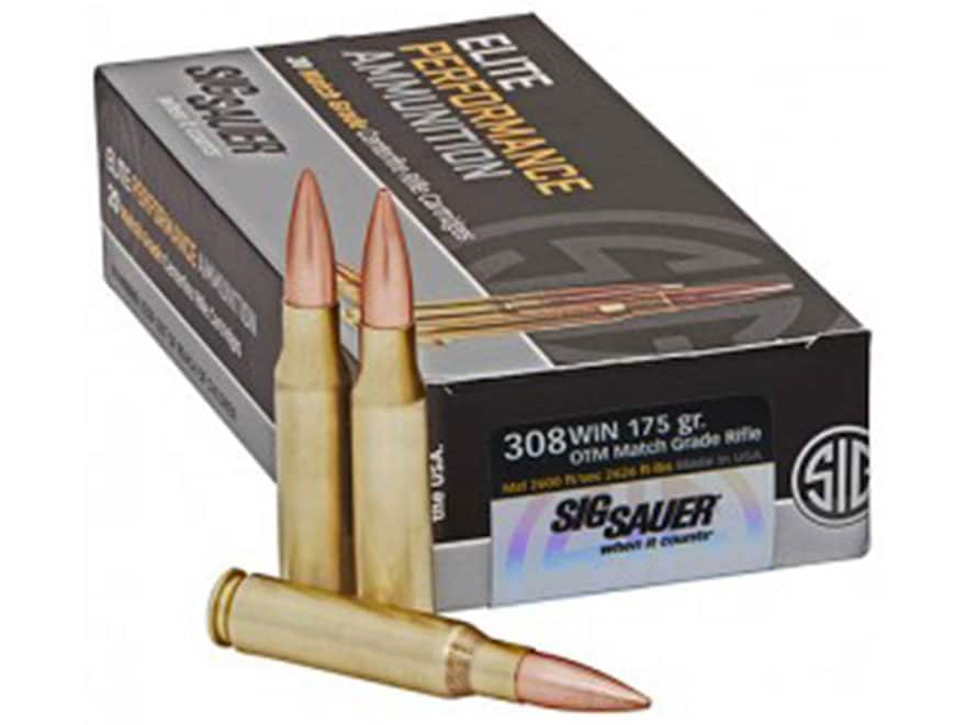 Sig Sauer Elite Performance Match Grade Ammunition 308 Winchester 175 Grain Open Tip Match