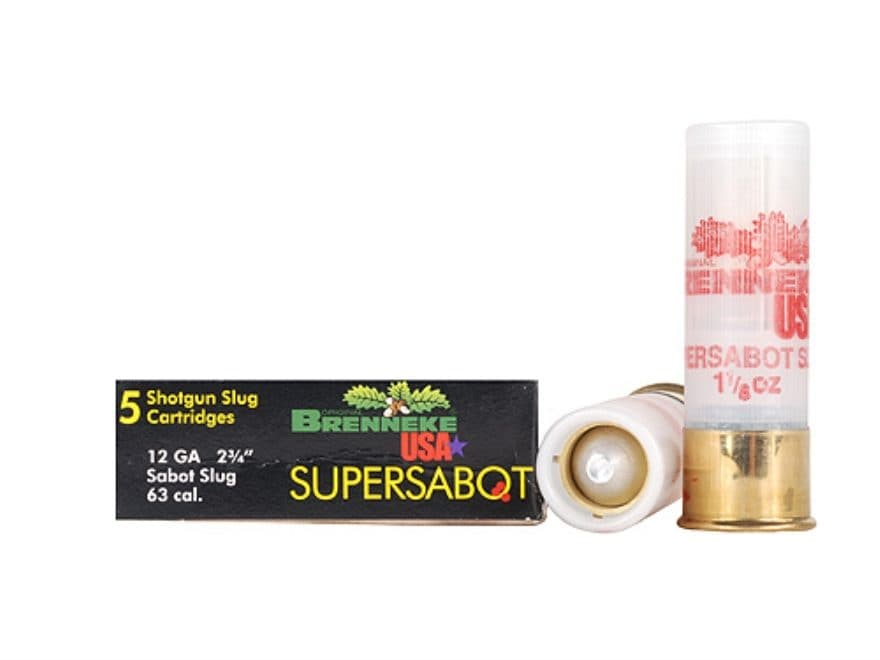 "Brenneke USA SuperSabot Ammunition 12 Gauge 2-3/4"" 1-1/8 oz Lead-Free Sabot Slug Box of 5"