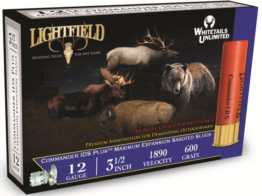 "Lightfield Commander IDS Plus Ammunition 12 Gauge 3-1/2"" 1-3/8 oz Sabot Slug Box of 5"