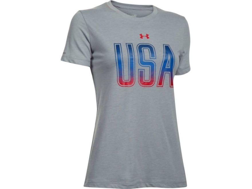 b9594ba33d39 Under Armour Women s UA USA T-Shirt Short Sleeve Charged Cotton TriBlend.  Alternate Image  Alternate Image