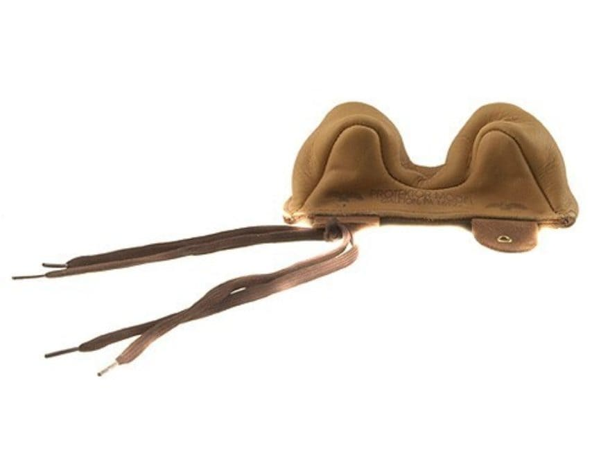 Protektor Owl Ear Rifle Front Shooting Rest Bag Narrow Leather Tan Unfilled