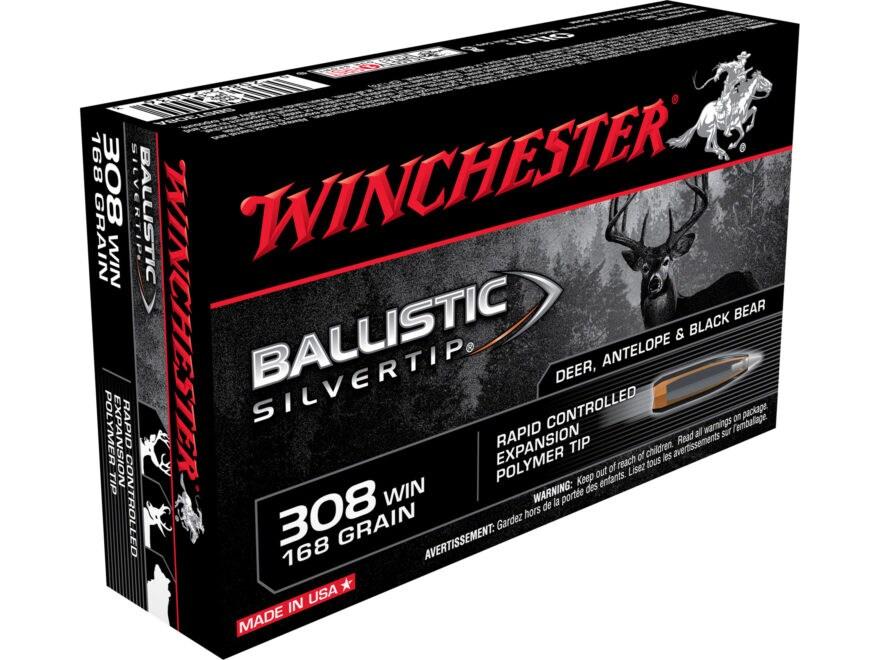 Winchester Ballistic Silvertip Ammunition 308 Winchester 168 Grain Rapid Controlled Exp...