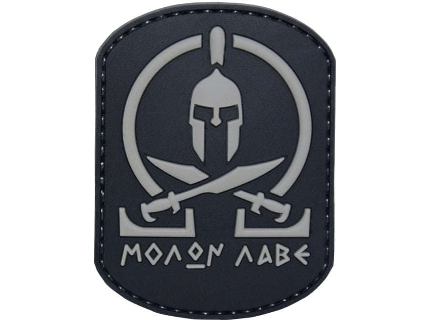 "5ive Star Gear Molon Labe PVC Morale Patch Black 3"" x 2"""