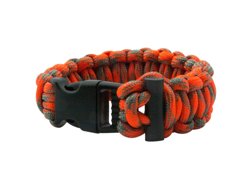 UST ParaTinder Paracord Bracelet Orange and Gray