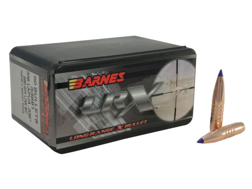 Barnes LRX Long-Range Hunting Bullets 338 Lapua Magnum (338 Diameter) 280 Grain LRX Boa...