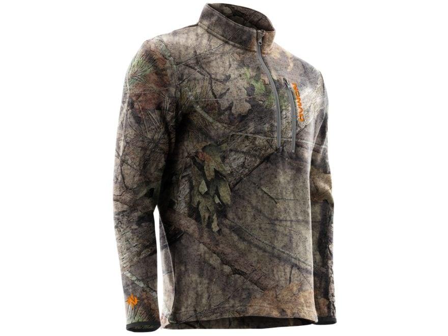 Nomad Men's Slaysman Scent Control Camo 1/4 Zip Sweatshirt