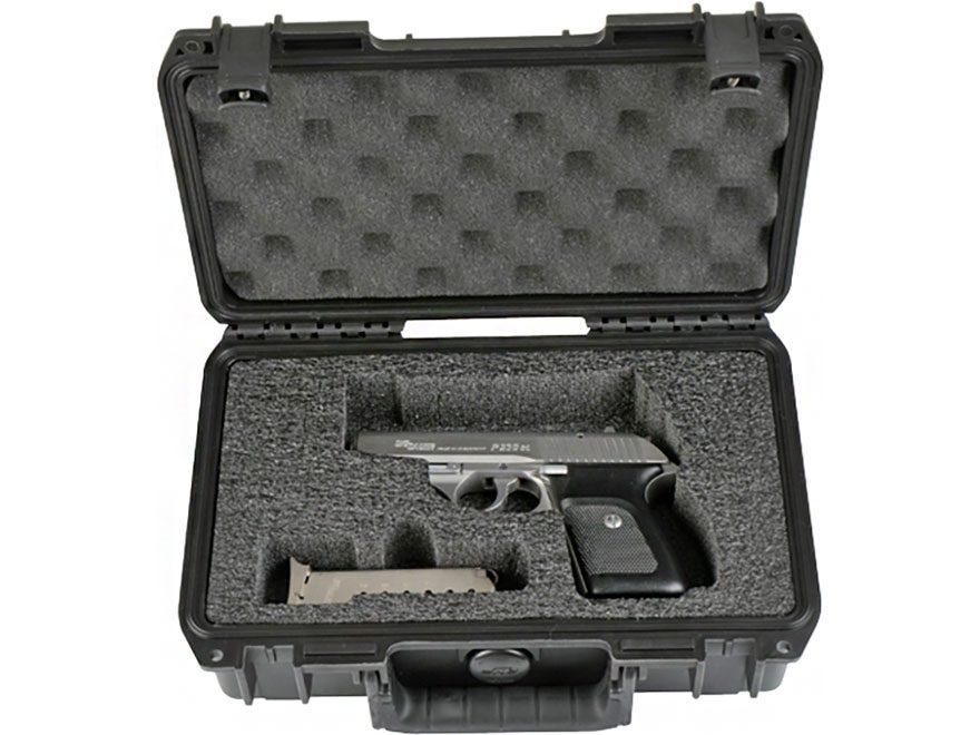 """SKB iSeries 1006 Custom Single Pistol Case 10.75"""" Polymer Black"""