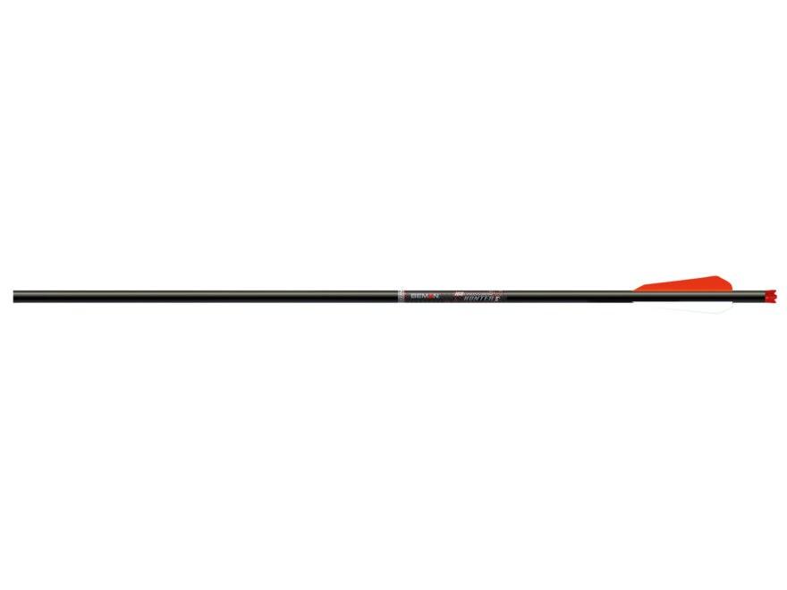 "Beman Crossbow Hunter 20"" Carbon Crossbow Bolt 3"" BTV Vanes Flat Back Nock Black Pack of 6"