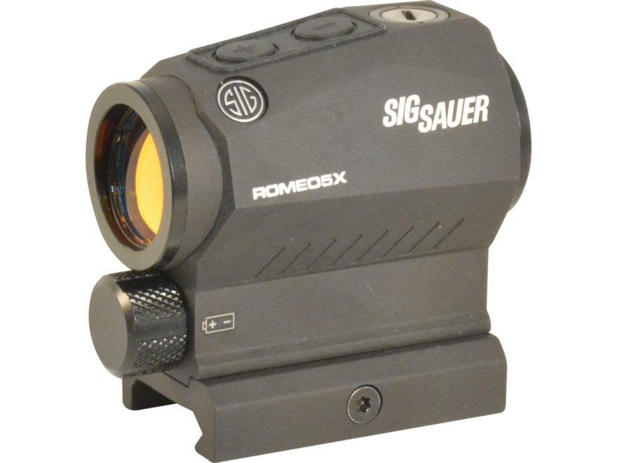 Sig Sauer ROMEO5 X Compact Red Dot Sight 1x 20mm 1/2 MOA Adjustments 2 MOA Dot Reticle ...