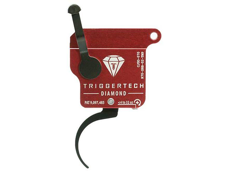 TriggerTech Black Diamond Trigger Remington 700 Clones Single Stage with Safety Black